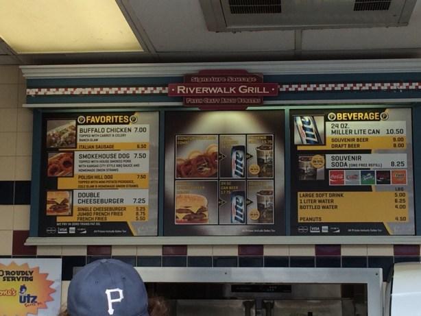 Riverwalk Grill at PNC Park Menu