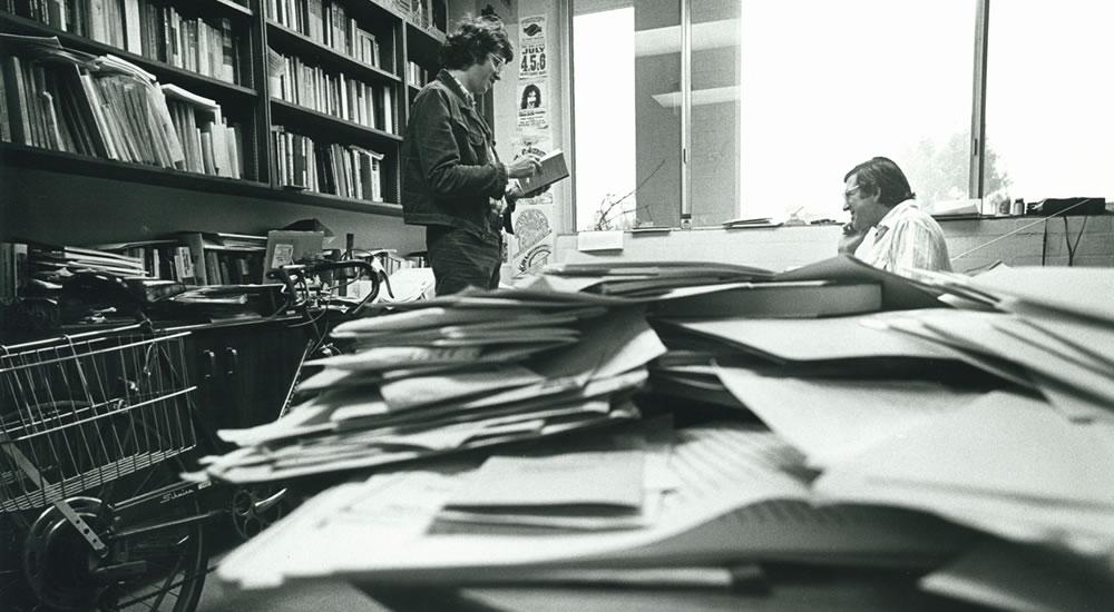 James Bogen, professor of history, in his office in 1978.