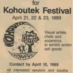 1989 Kohoutek want ad