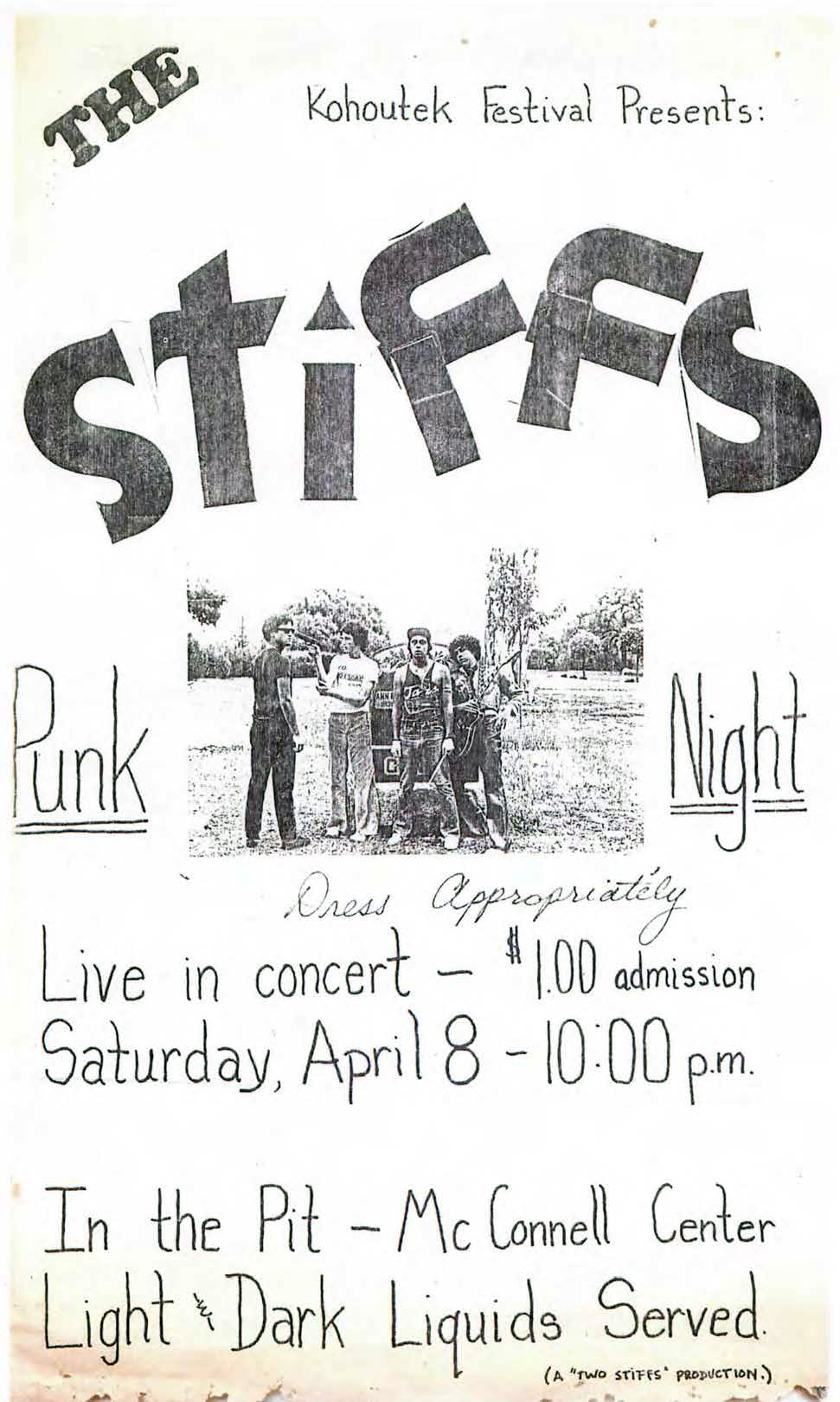 1970s - A poster advertising a concert within a concert.