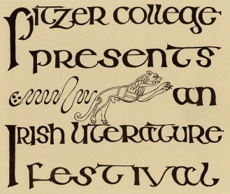 Irish Literature Festival Pamphlet, 1968