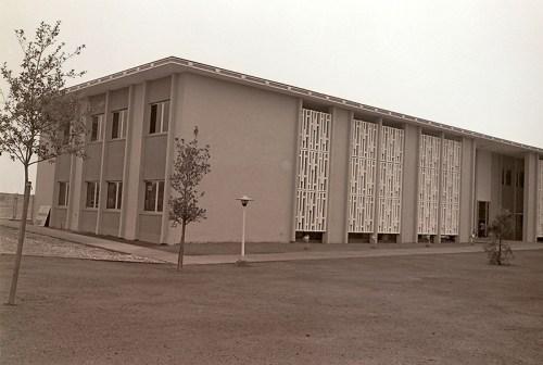 Scott Hall with Trees, 1964