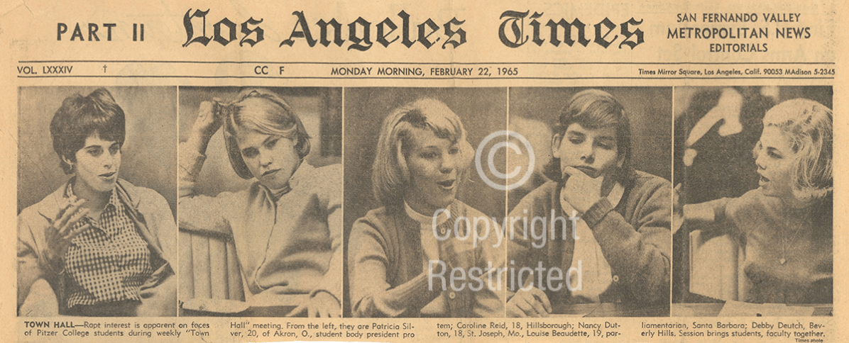 Los Angeles Times article, February 22, 1965