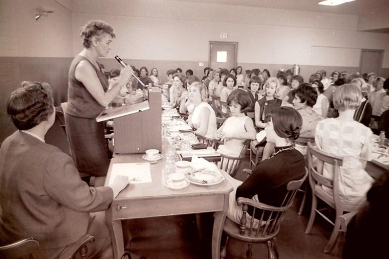 Author Marya Mannes Speaks to Students, 1964