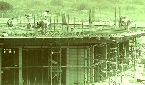 Construction of Bernard Hall, 1965