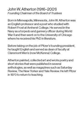 Pitzer President John W. Atherton Biography