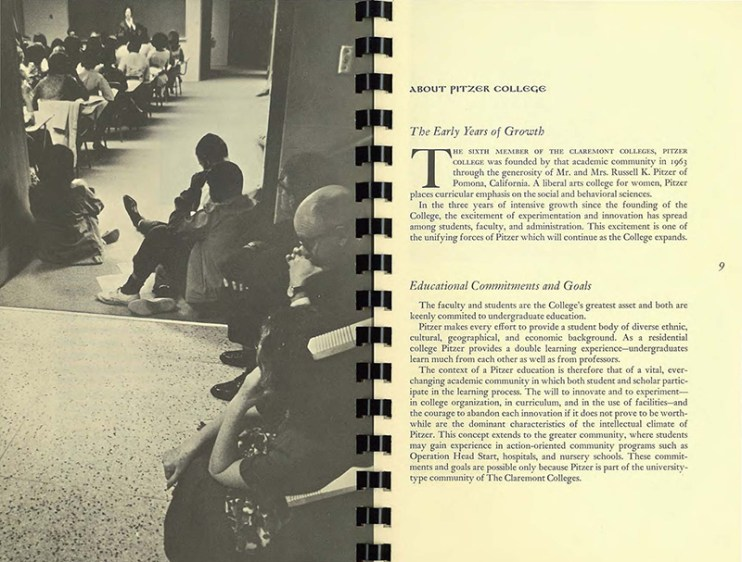From Pitzer College Bulletin, 1966-67