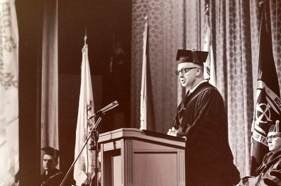 President Atherton at His Inauguration in Garrison Theater, 1964