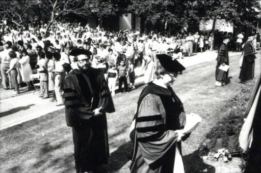 President Ellsworth at Commencement, undated