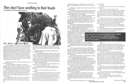 The Other Side: November 17, 1995, Vol. 25, Issue 2, pages 24-25