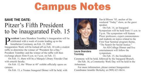 Campus Notes, 2002