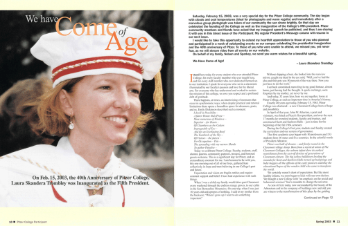 The Participant: Spring 2003, pages 10-11