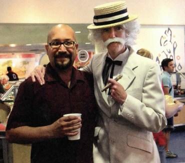 President Trombley Dressed as Mark Twain, undated