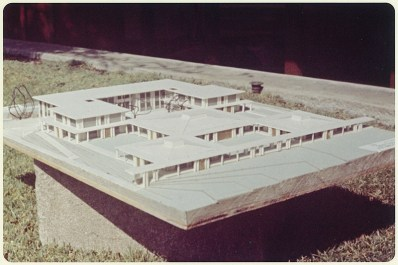 Model of Scott Hall's Unbuilt Plan, undated