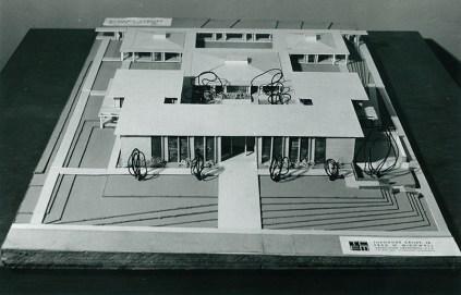Bird's-eye View of Model of Scott Hall's Unbuilt Plan (West), undated