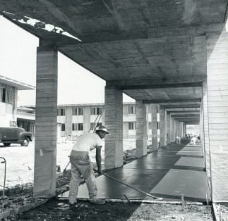 Workers Smoothing Fresh Concrete, undated