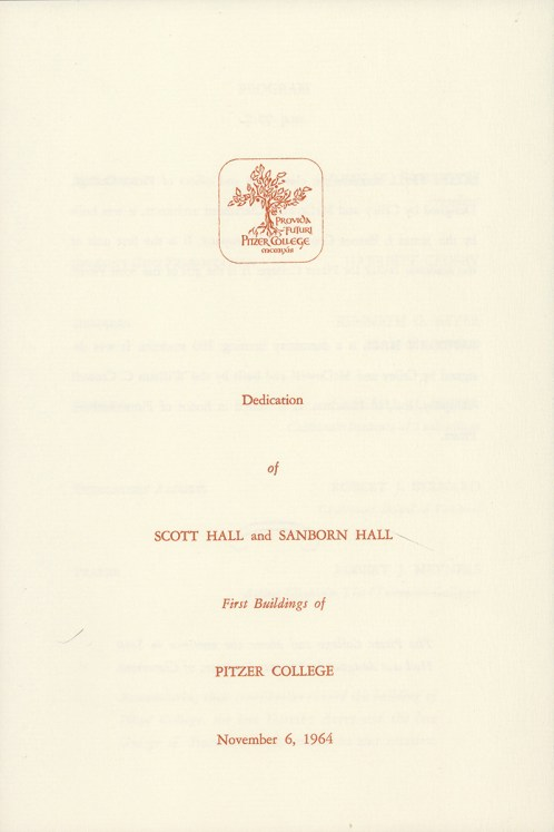 Dedication of Scott Hall and Sanborn Hall, 1964