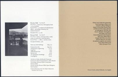 Dedication Program with Construction Budget of Fletcher and Bernard, 1965