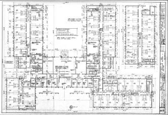 First Floor Plan of Holden Hall, Sheet A-7, August 17, 1964