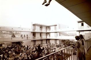 Event in the Mead Hall Courtyard on First Day of Classes, September 26, 1968