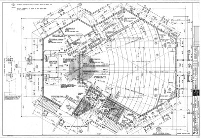 Main Floor Plan of Avery Hall, Sheet A-3, undated