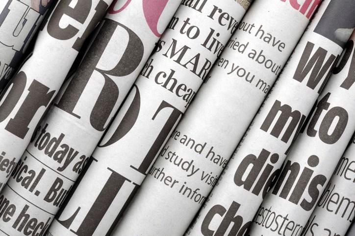 Newspapers, decorative image