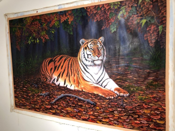 Stan Hunter, Endangered, ca. 2012, acrylic on canvas
