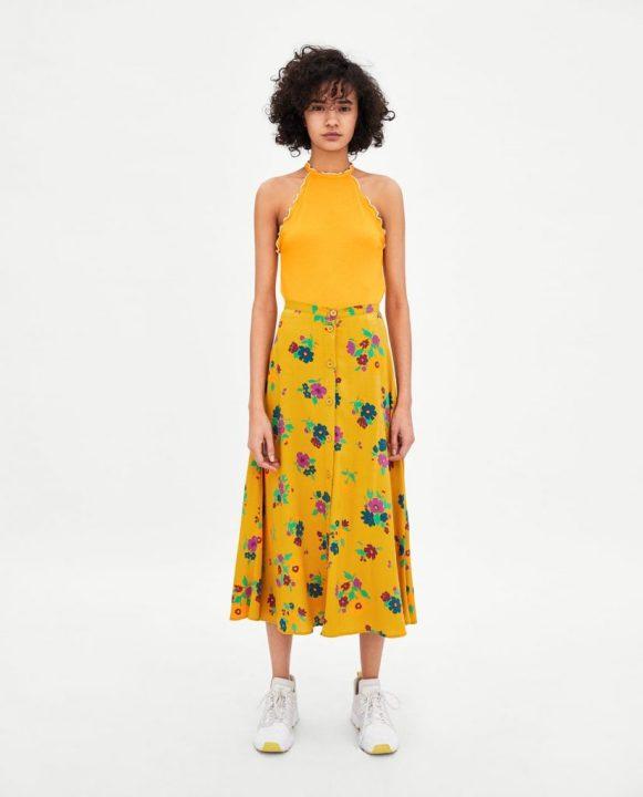 Zara top giallo