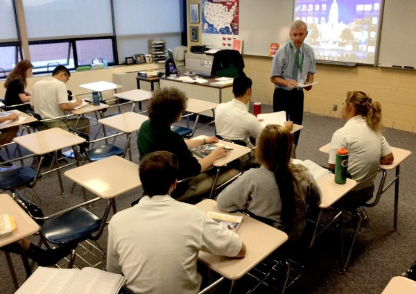 Social Studies Class at Pius X Catholic High School