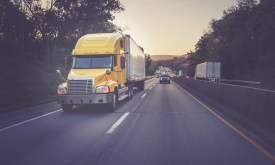 A third party logistics truck delivering goods and services. Recent Events Make Third Party Logistics More Crucial than Ever. Here's why.