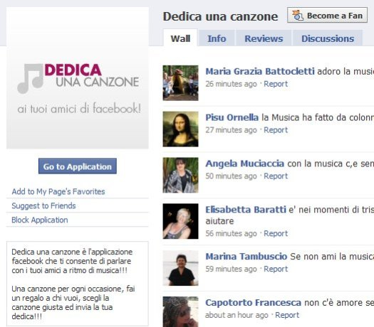 dedica una canzone in Facebook