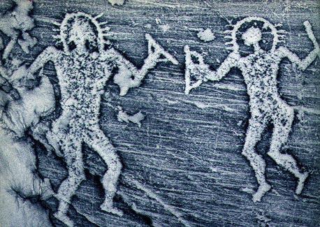incisione rupestre aliena, Valcamonica