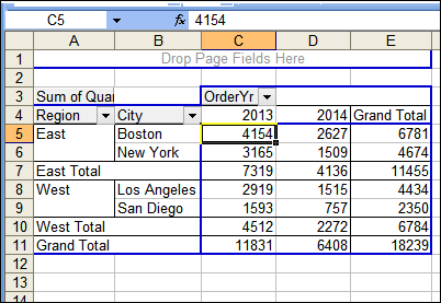 Format A Pivot Table In Excel Classic Style Excel