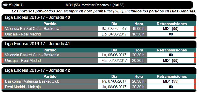 jornadas 40,41 y 42 2016-17
