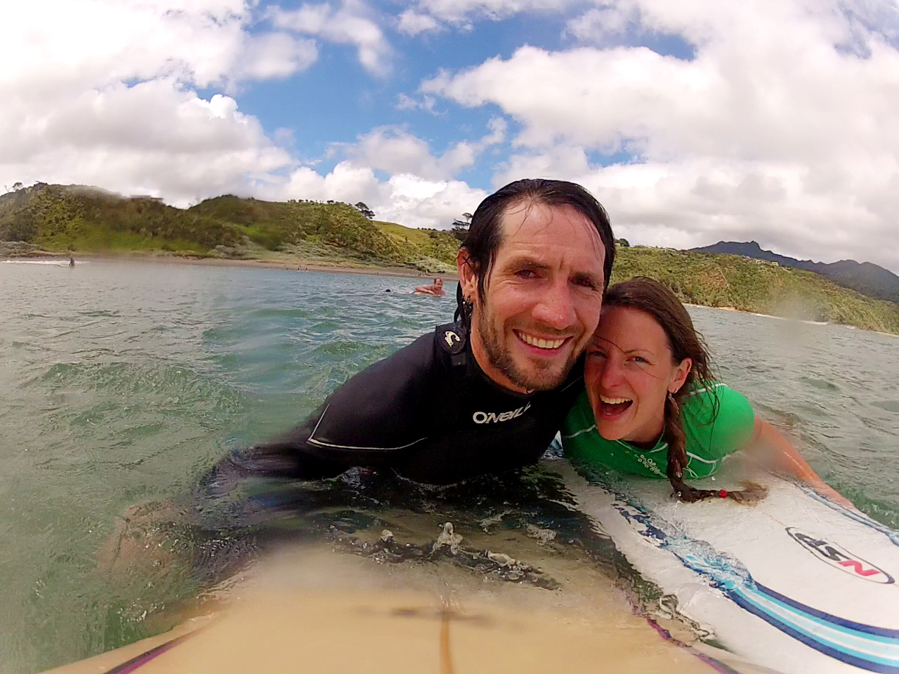 Niall and Anna of PiwiWiwi Surf Campervan Rentals