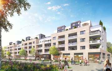 Perspective Logements Projet Grand Paris Aménagement - Saint-Maur-des-Fossés - Client : A26 Architecture