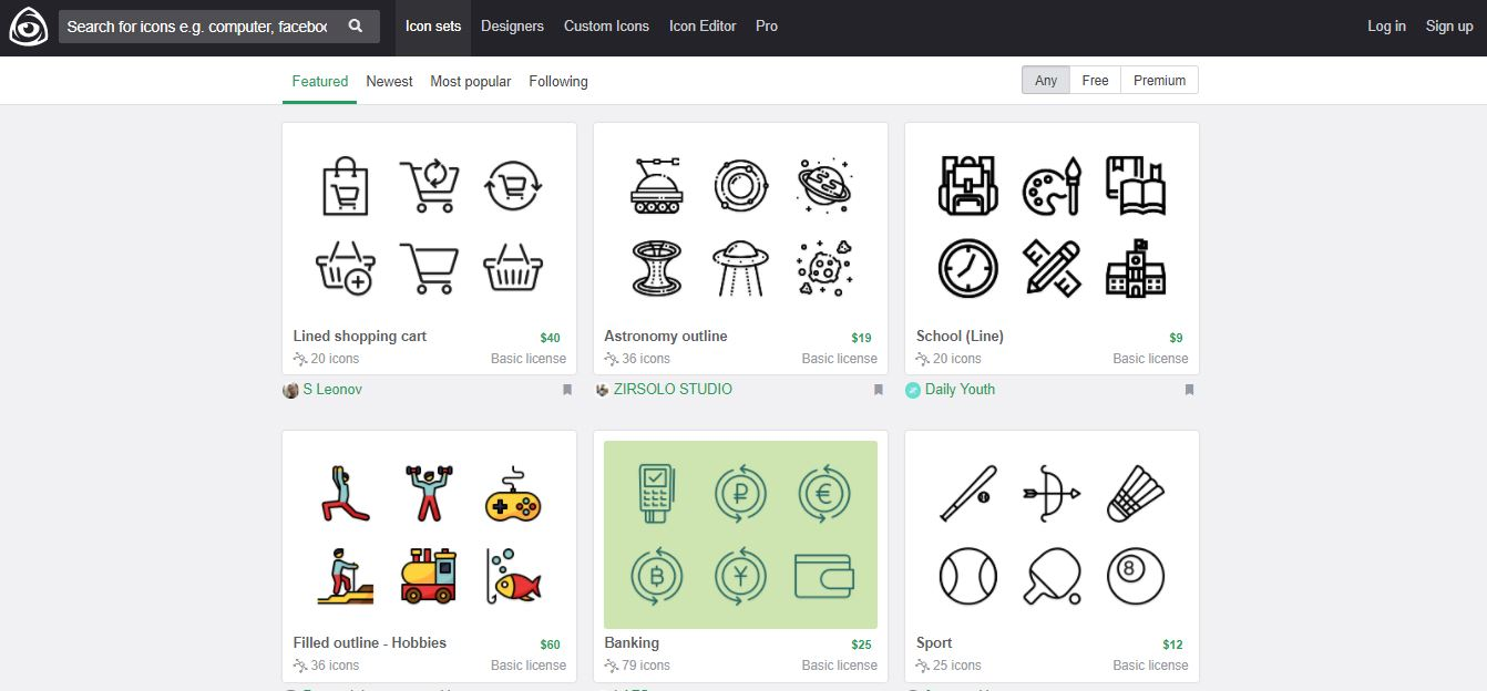 5 Great Websites For Free Icons Pixartprinting
