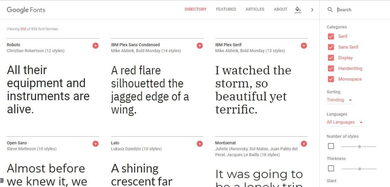 Google Fonts: font gratis da scaricare