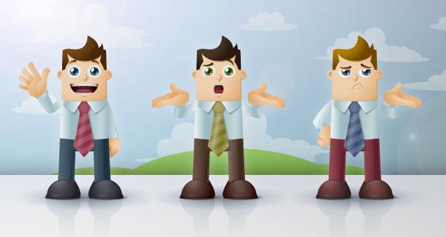 Business Man Vector Characters Vector Characters Pixeden