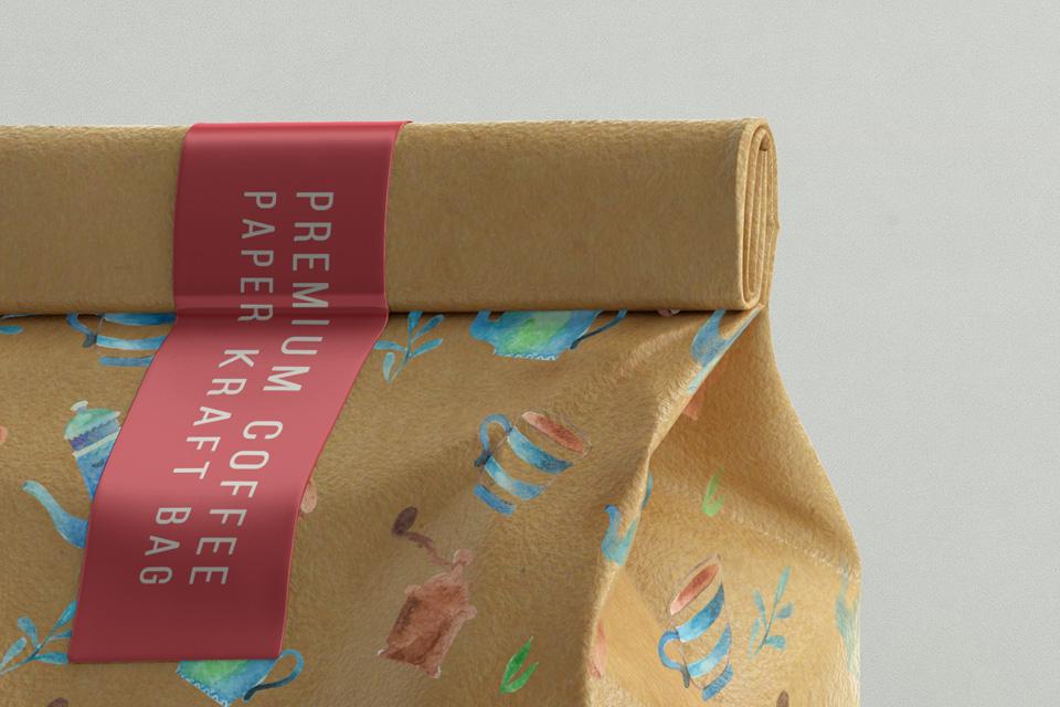 Kraft Coffee Bag Packaging Mockup 2 | Psd Mock Up ...