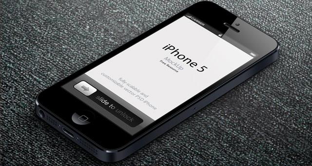 3D View IPhone 5 Psd Vector Mockup Psd Mock Up Templates Pixeden