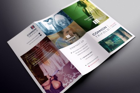 Simple Tri Fold Brochure Template   Brochure Templates   Pixeden Simple Tri Fold Brochure Template