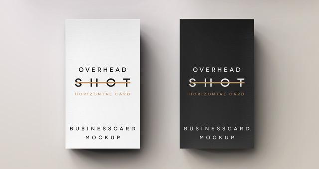 Psd Overhead Shot Business Card Psd Mock Up Templates