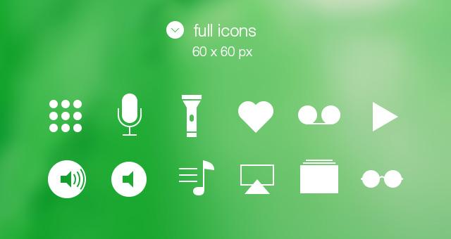 tab bar icons ios 7 vol2 media icons pixeden