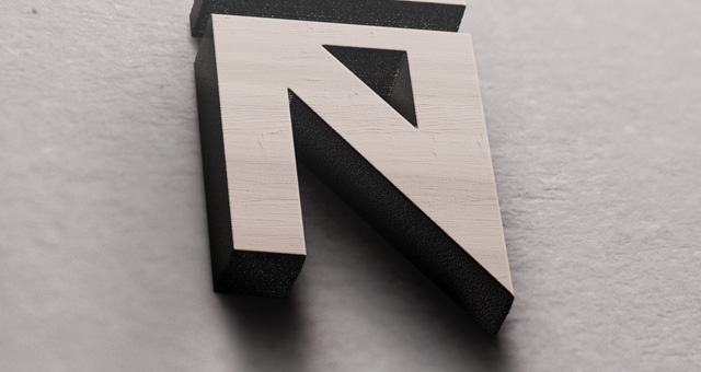 3D Wood Logo Mock Up Template Psd Mock Up Templates Pixeden