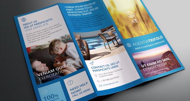 Agentia Tri Fold Brochure Template Brochure Templates