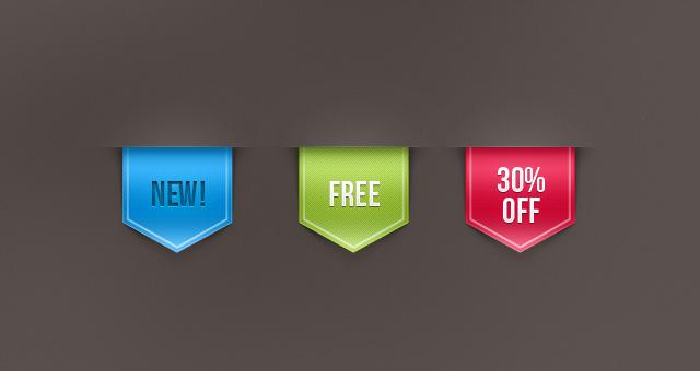 Psd Web Ribbon Sale Label Vol 1 Psd Web Elements Pixeden