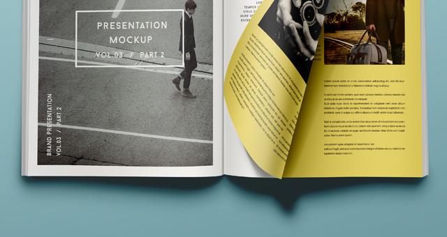 Psd Magazine Mockup View Vol3 2 Psd Mock Up Templates Pixeden