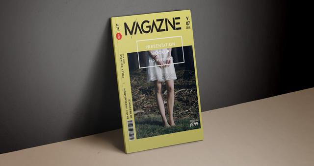 Psd Magazine Mockup Cover Vol7 Psd Mock Up Templates Pixeden
