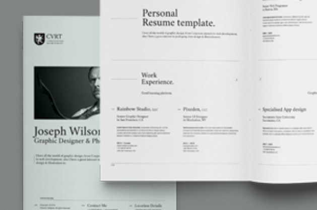 Simple Resume Template vol8   Resumes Templates   Pixeden